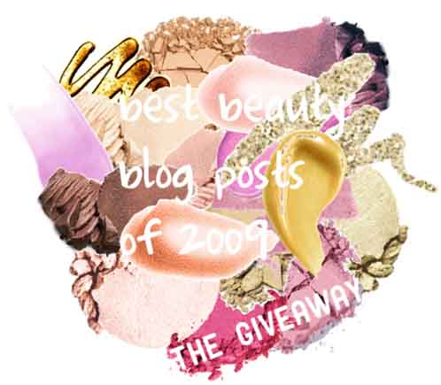 best beauty blog post of 2009, giveaway, sweepstakes, contest, spa week