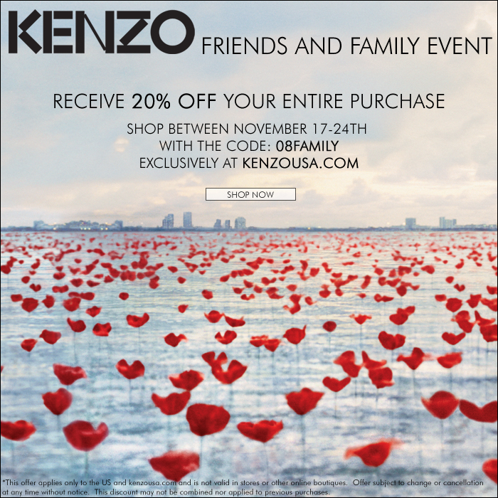 Family Discount20Off Kenzo And Friends Kenzo SLMpqUzVG