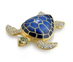 estee lauder holiday compacts collection 2010, white linen jeweled sea turtle