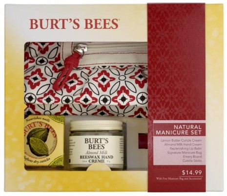 burts bees holiday 2010, natural manicure set, gift ideas