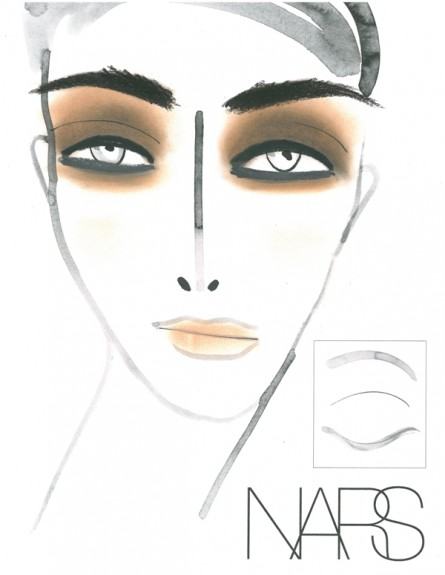 nars makeup, joy cioci, face chart