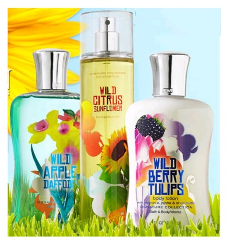 bath and body works reviews, wild garden collection reviews, fruity florals, fragrance trends 2012