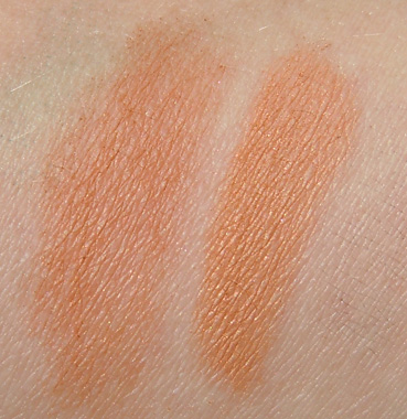soft sand bronzing powder swatch, nude on board bronzing powder swatch, hey sailor mac, mac hey sailor bronzing powder