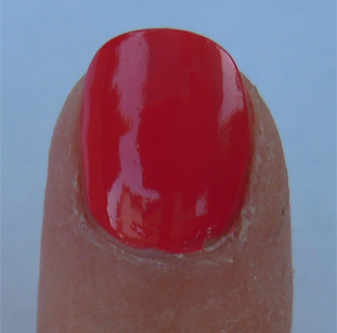 mac impassioned swatch, mac nail lacquer, impassioned photo