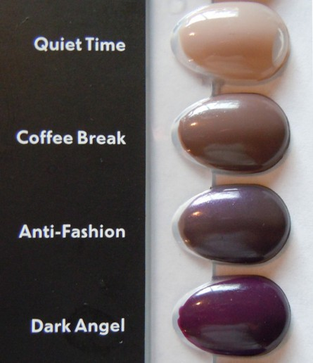 quiet time, coffee break, anti-fashion, dark angel, mac permanent nail collection, mac nail polishes, mac nail polish