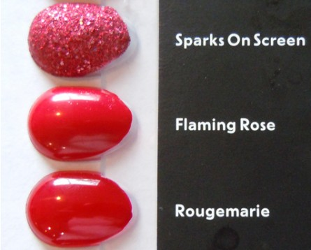sparks on screen, flaming rose, rougemarie
