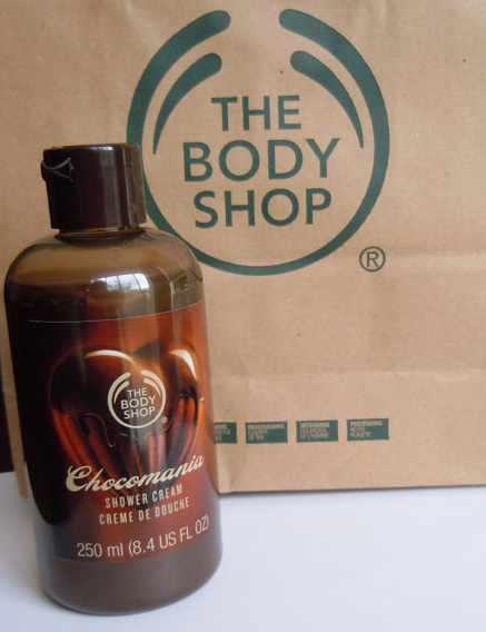 body shop chocomacia shower cream review, body shop chocomania shower cream opinion