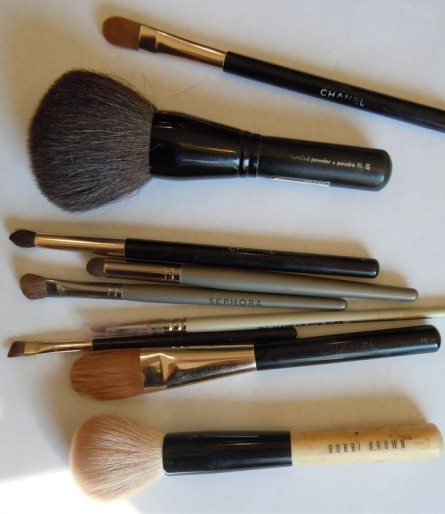 makeup brushes, chanel, sephora, bobbi brown, make up for ever