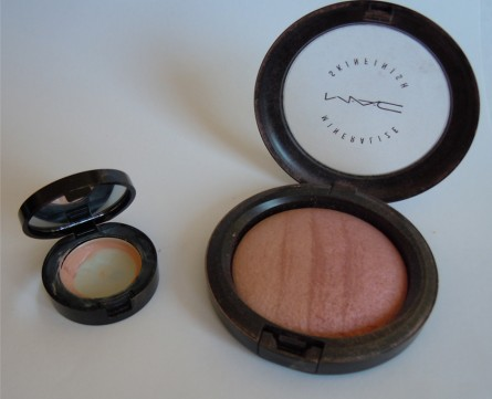bobbi brown corrector, mac mineralize skinfinish
