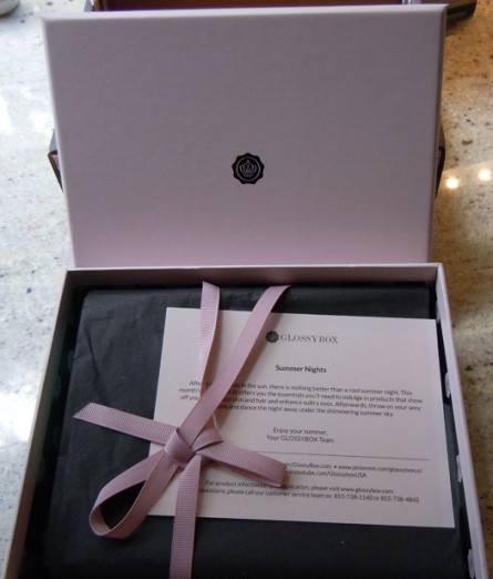 glossybox usa, opened box photo, glossybox usa info, glossybox usa review, july, july 2012