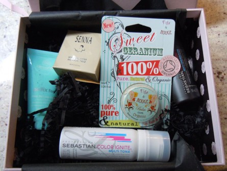 glossybox usa, july 2012, product photo, products in july glossybox
