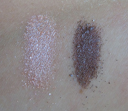 light touch swatch, deeply dashing swatch, mac face and body