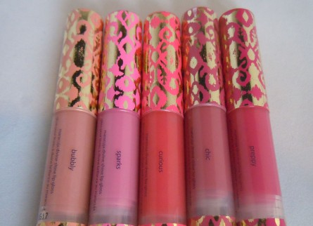 tarte girl meets gloss shades, swatches, reviews, holiday 2012