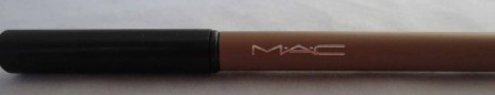 mac veluxe brow liner review, strawberry blonde swatch