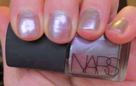 Nars spring 2013, disco inferno nail lacquer, nars nail lacquer spring, disco inferno swatch, review
