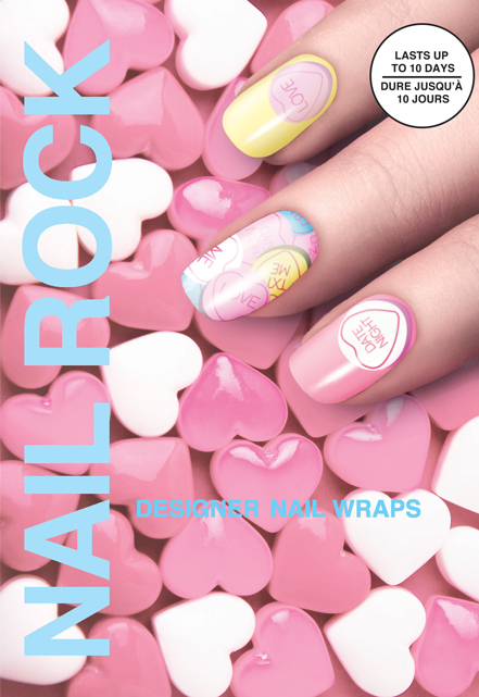 valentines day manicure, nail wraps, nail rock review