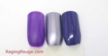 hese #purple #nail polishes would look great with a chrome #accent nail!  via @ragingrouge