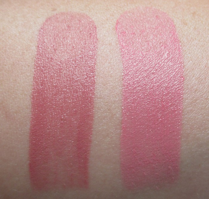 Estee Lauder Blushing Berry & Pink Crush Swatches | RagingRouge.com