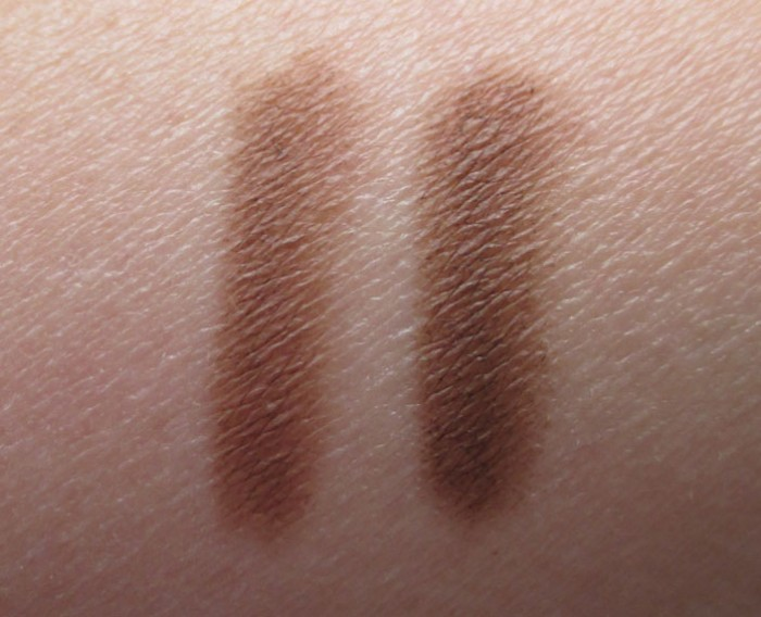 Estee Lauder Brow Defining Pencil Swatches: Light Brunette and Brunette
