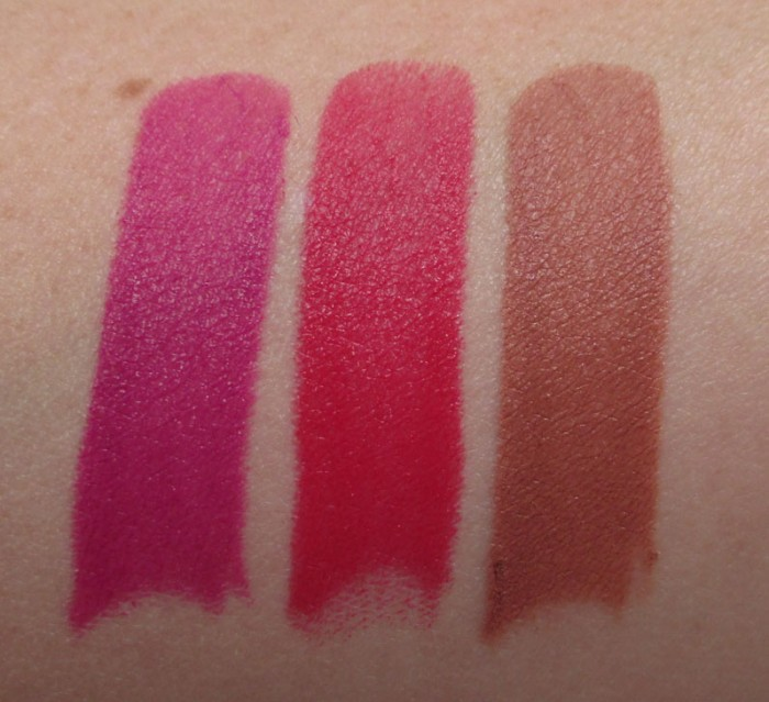Out With A Bang, Racy, and Inconspicuous Swatches