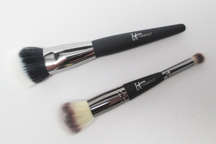 IT Cosmetics Angled Radiance Creme Brush and Heavenly Luxe Dual-Ended Complexion Brush