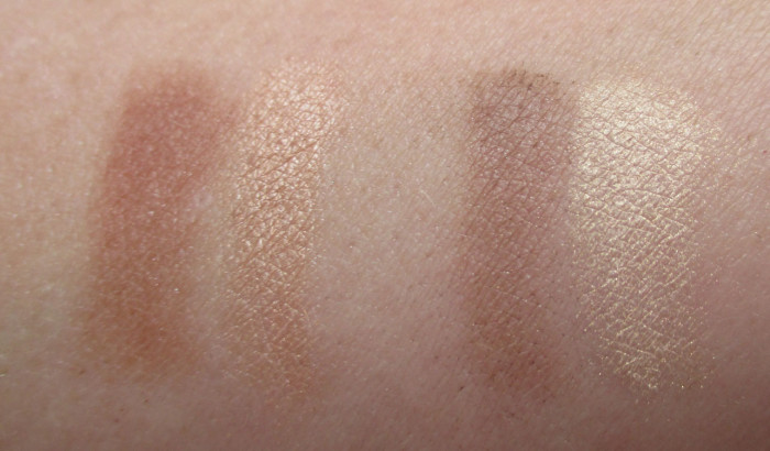 L'Oreal Infallible Pro Contour Palette Swatches: Medium and Light