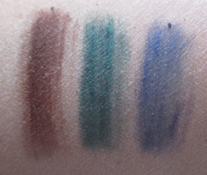 L'Oreal Biolet Beaute, Teal Couture, Grand Bleu Swatches