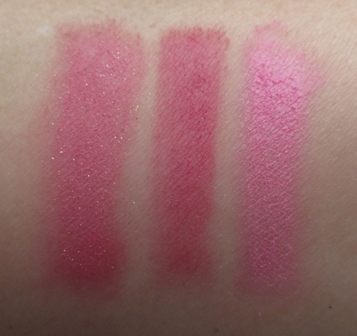 NARS Pink Blushes: Angelika, Mata Hari, Gaeity Swatches