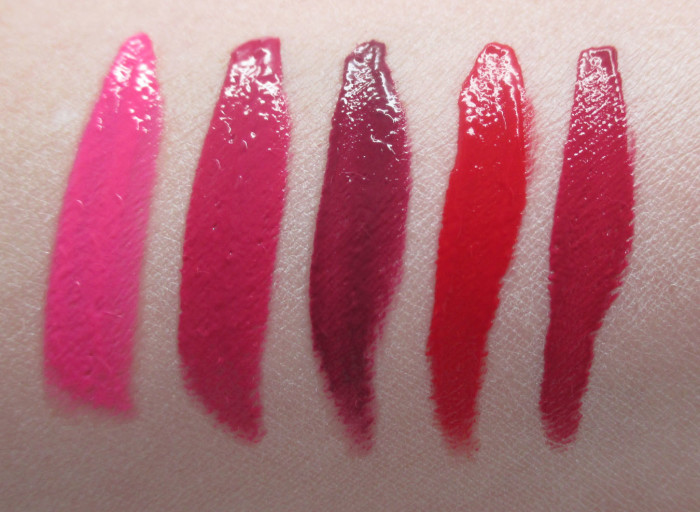 L'Oreal Infallible Pro Matte Gloss Swatches: 302, 304, 310, 308, 312