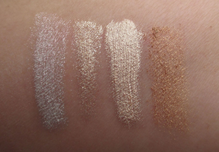 Sleek MakeUP Highlighting Palette, Precious Metals Swatches