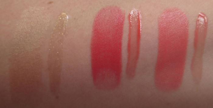 Estee Lauder Bronze Goddess Lip And Cheek Summer Glow Swatches: