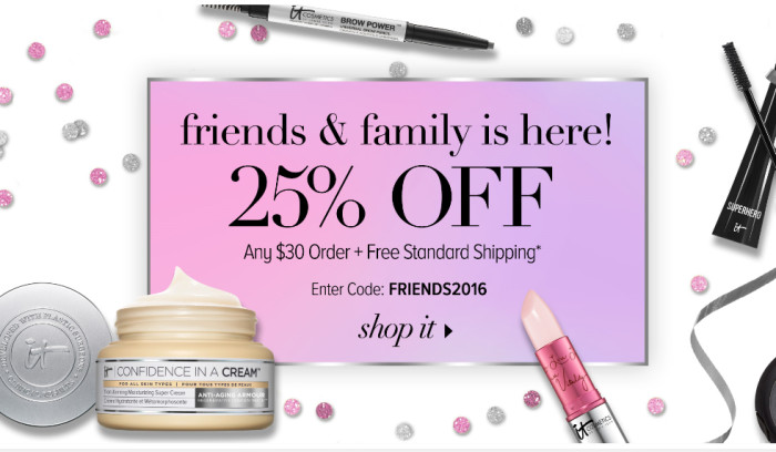 IT Cosmetics Friends And Family Sale April 2016