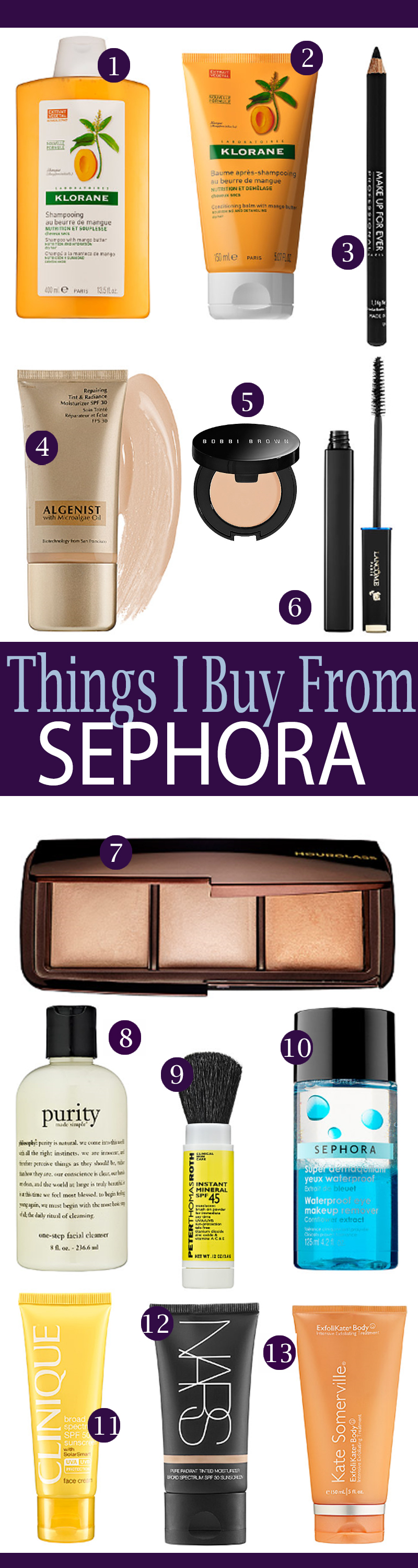 Things I buy from Sephora over and over