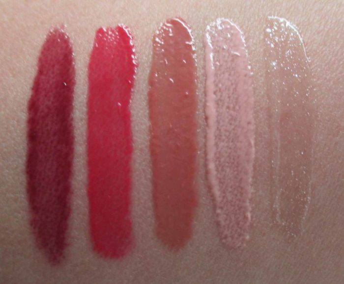 Laura Mercier Kiss Of Shine Lip Glace Swatches, Holiday 2016