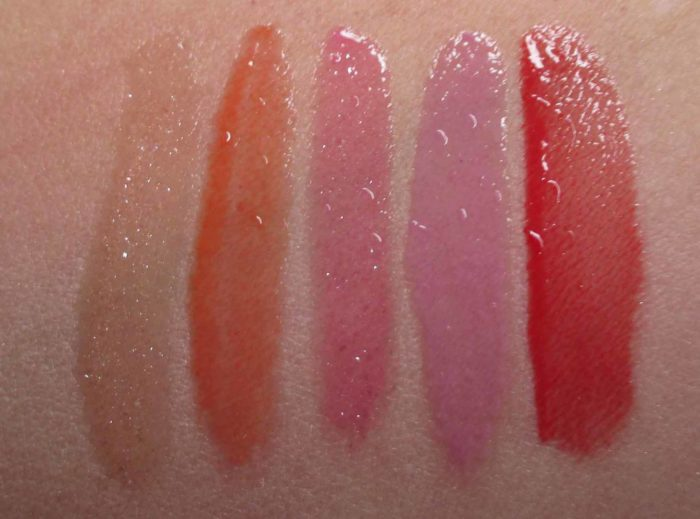 Smashbox Glossed To Go Swatches
