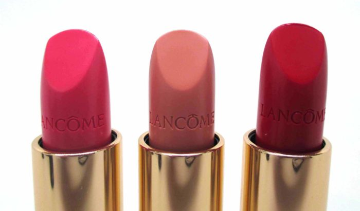 Lancome L'Absolu Rouge: Pourquois, Nuit, and Caprice