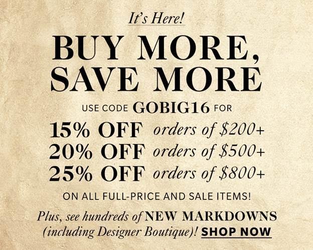 Shopbop Buy More Save More