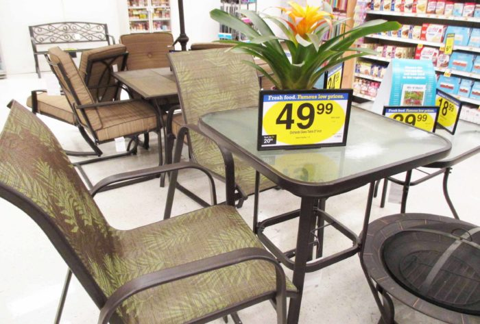 Kroeger Patio Sale: Outdoor Bistro Table at Fry's