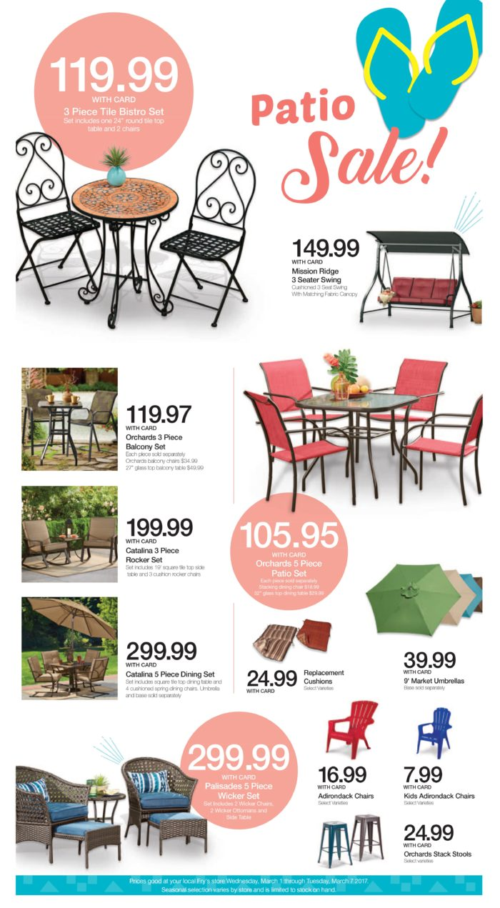 Kroeger Patio Sale