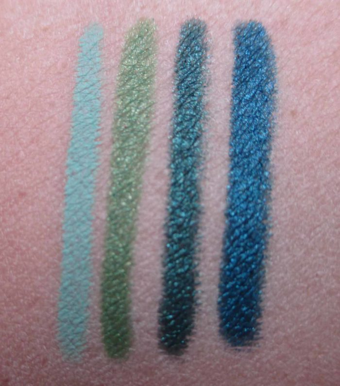Make Up For Ever Aqua XL Swatches: M-30, I-34, I-32, I-24