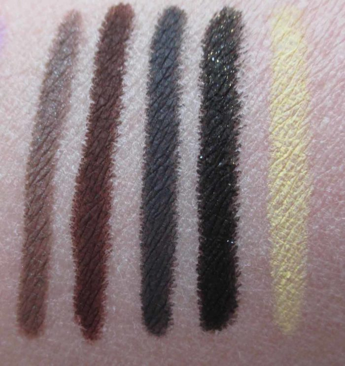 Make Up For Ever Aqua XL Swatches: S-50, M-60, M-14, D-12, M-40