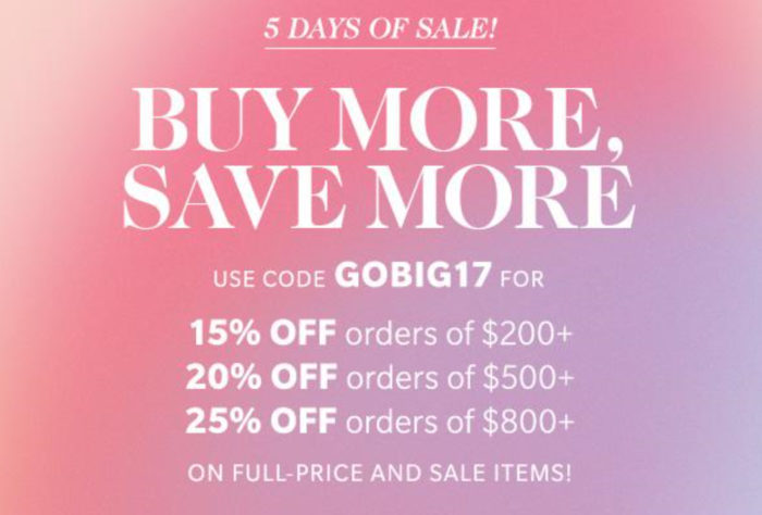 Shopbop Buy More Save More Sale February 2017