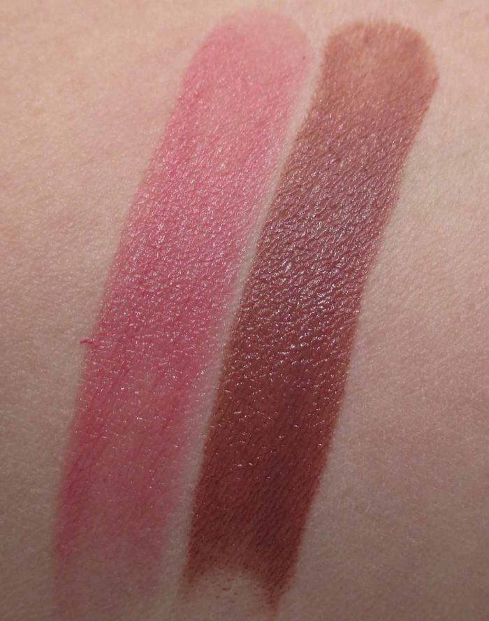 Jane Iredale PureMoist Lipsticks, Susan and Lisa Swatches