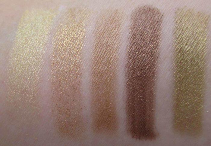 MAC Eye Shadow x 15, Warm Neutral Swatches Bottom Row