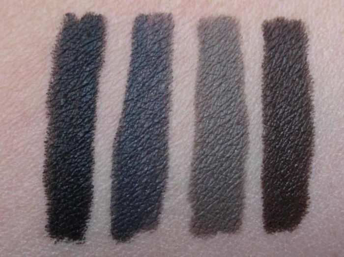 Smashbox Always On Liner Swatches: Fishnet, Shark, Moody, and Brewed