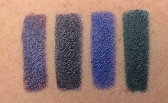 Smashbox Always On Liner Swatches: Nymph, Private, Bouncer, and Baller