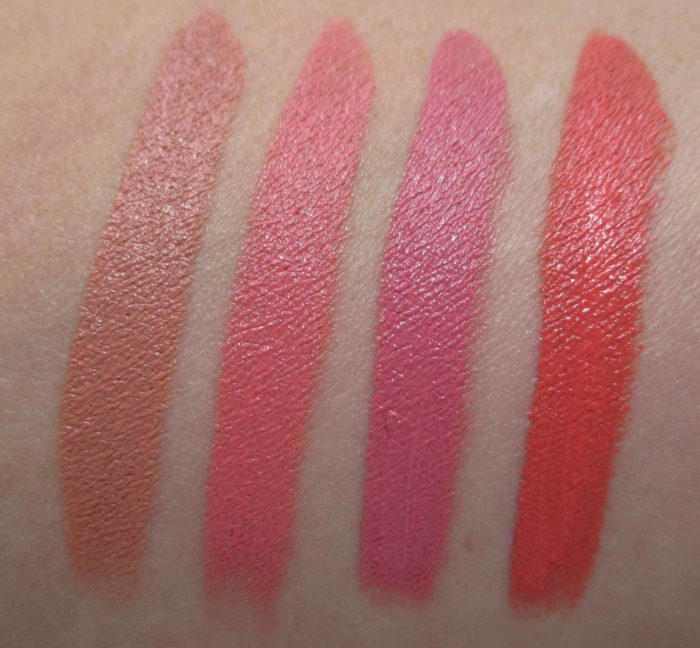 Make Up For Ever Artist Rouge Crème Lipsticks, Neutral Shade Swatches