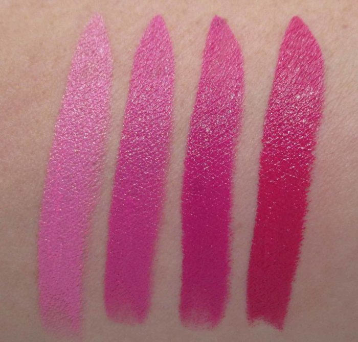 Make Up For Ever Artist Rouge Crème Lipsticks, Pink Shade Swatches