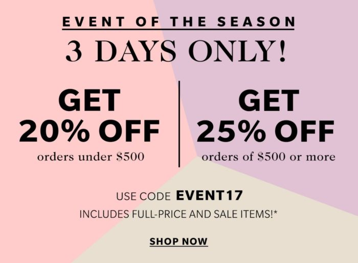 shopbop friends and family 2017, shopbop friends and family 2018, shopbop friends and family sale 2017, shopbop friends and family sale 2018