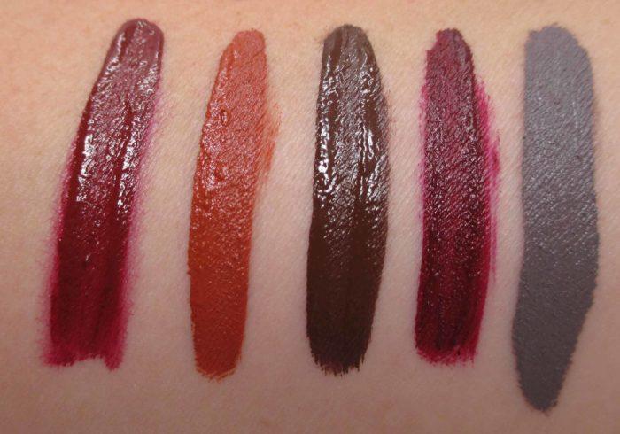 Smashbox Always On Lipstick Earthy Tone Swatches